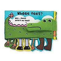 """Libro de actividades suave de Melissa y Doug: cuyos pies, juguetes de desarrollo, texto fácil de leer, pies colgando, lavable a máquina, 7 """"Alt. X 10"""" An. X 1.75 """"An."""