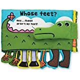 "Melissa & Doug Soft Activity Book - Whose Feet, Developmental Toys, Easy-to-Read Text, Dangly Feet, Machine Washable, 7"" H x 10"" W x 1.75"" L"