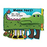 Melissa & Doug Soft Activity Baby Book - Whose Feet?, New, Free Ship