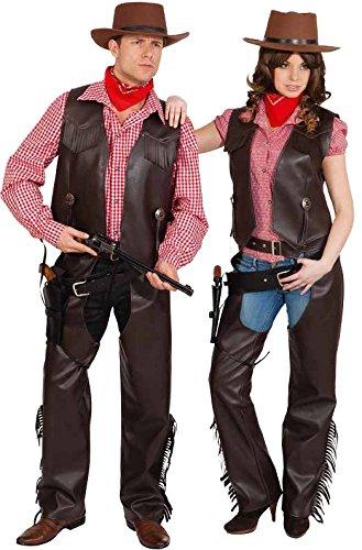 Orlob Western Damen Kostum Cowgirl Weste Braun Karneval Fasching Gr