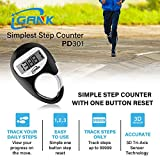 iGANK Simple Walking Pedometer Step Counter for Men
