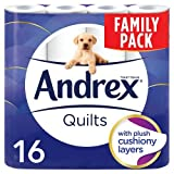 Andrex Quilts Toilet Roll Tissue Paper - 16 Rolls