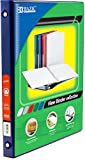BAZIC 1/2'' Blue 3-Ring View Binder w/ 2-Pockets, Case Pack of 12