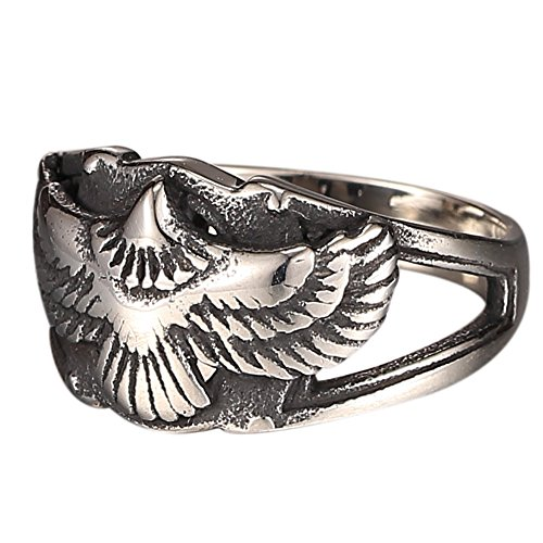 Silver Eagle Finger Vintage Ring for Punk Rocker Biker for Women and Men