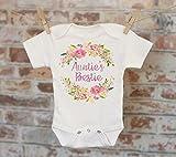 Auntie's Bestie Onesie, Aunt Onesie, Gift For Niece, Cute Baby Bodysuit, Cute Onesie, Boho Baby Onesie, Girl Onesie