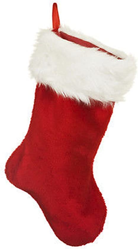 Top Sale Plush Christmas Stocking Red And White Velvet Effect Christmas Stocking Plush Stocking Amazon Co Uk Kitchen Home,Country Cottage Decor Uk