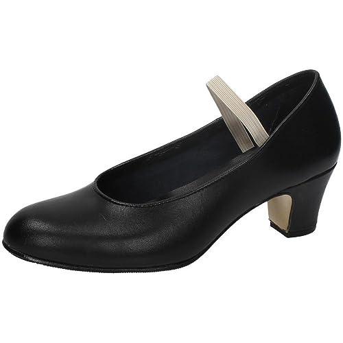 Zapato baile de tacón para niña y señora Carolina Guillo en negro talla 18 tzl2y4