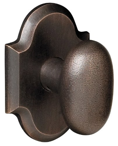 Rustic Passage Door - Baldwin 5432.432.PASS Oval Knob Passage with Arched Rose, Rustic Bronze