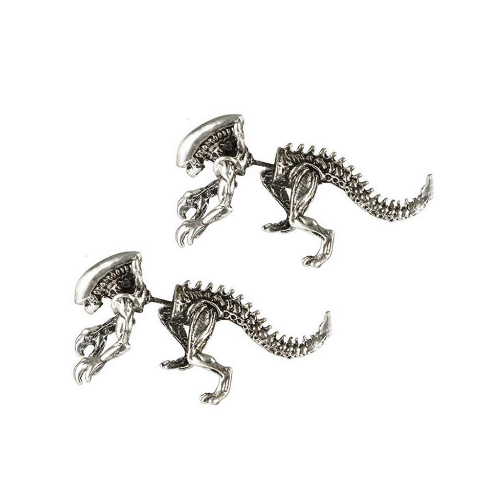 YOMXL Creative Dinosaur Earrings Cute Animal Jewelry Tyrannosaurus Rex Punk Studs Earrings Gift For Women Men
