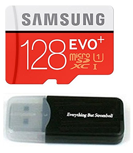 128GB Samsung Evo Plus Micro SDXC Class 10 UHS-1 128G Memory Card for Samsung Galaxy Note 8, S8, S8+ Plus, S7, S7 Edge… 1 Bundle includes (1) 128GB Samsung Evo Micro SDXC Card and (1) Everything But Stromboli Micro Card Reader Works with Samsung Galaxy Note 8, S8, S8+ Plus, S7, S7 Edge, S5 Active Cell Phones Up to 100MB/s transfer speed