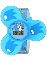 Sonic the Hedgehog Reloj de cuarzo de plástico casual, color: azul (modelo: SNC4016)