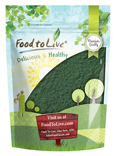 (Chlorella Powder, 1 Pound - Kosher, Raw Green Algae, Vegan Superfood, Bulk, Pure Vegan Green Protein, Rich in Vitamins and Minerals, Great for Drinks, Teas and)