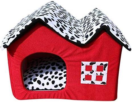 SH-Flying Cama para Mascotas, Cálida Caseta De La Perrera del Cilindro Casa del Perrito Felpa Perro Gato Gatito Cama Mascota Casa Interior