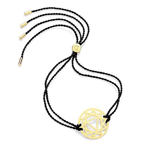 Daisy Black Gold Solar Plexus Chakra Bracelet