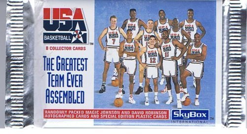 SkyBox 1992 USA Basketball, The Greatest Team Ever Assembled, Trading Cards of 8 per Pack