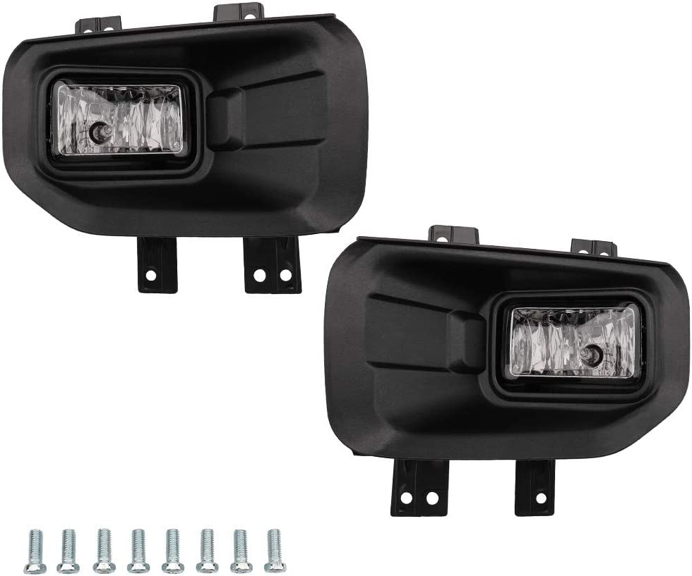 MAYASAF FORD F-150 Clear Lens Fog Light Replacement Bumper Fog Lamp Assembly Fit 2015-2016 Ford F-150