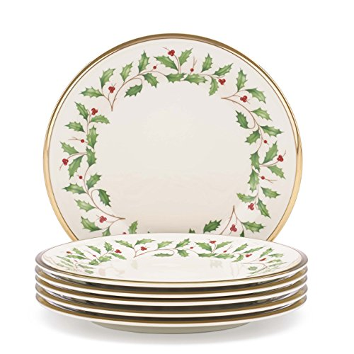 Lenox Holiday Set of 6 Salad Plates - Ivory - 835218