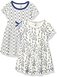 Touched by Nature Girls Organic Cotton Short-Sleeve Dresses Casual Dress