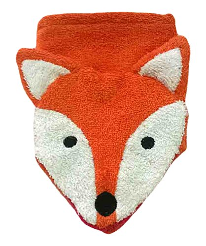 Organic Cotton Finger Puppet - Furnis Organic Cotton, Washcloth Mitt Fox Puppet, Adult Size