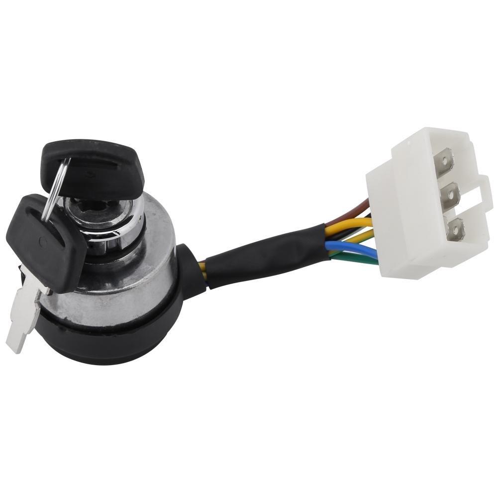Aramox 6 Draht Zündschloss Schlüssel Schlüsselschalter für 2,5-6,5KW ...