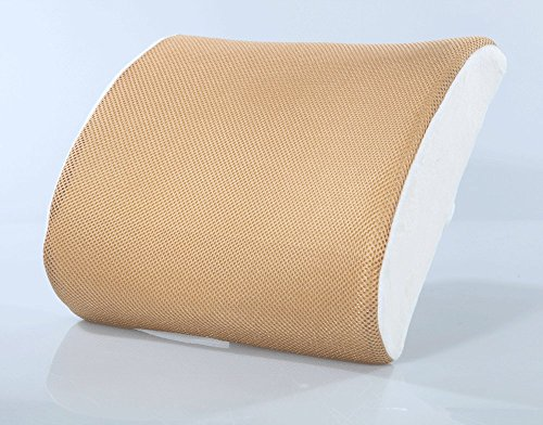 Softcomfy Lumbar Support Memory Foam Back Office Use Waist Protection Car Pillow (Costumed Cars)