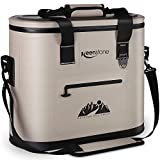 Keenstone Portable Soft Cooler Bags, 36 Cans, 3 Insulated Layer 100% Leak Proof, Perfect Soft Sided Coolers for Beach, Hiking, Camping, Sports, Picnics, Fishing, Road Trip (Brown)
