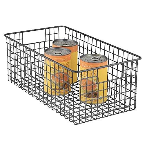Door Single Deep Wine Cabinet (mDesign Deep Wire Storage Basket for Kitchen, Pantry, Cabinet - Matte Black ?)
