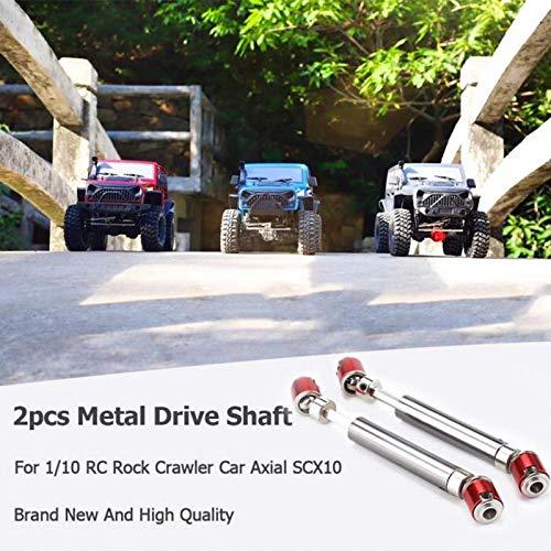 TOOGOO 2Pcs Front Rear Drive Shaft Drive Axle for 1//10 Rc Crawler Car Axial Scx10 D90