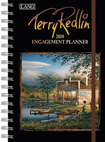 """LANG - 2018 Spiral Engagement Planner - """"Terry Redlin"""" - Artwork By Terry Redlin - 12 Month by Week or Month - 6.25"""" x 9"""""""