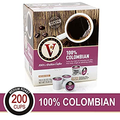 100% Colombian for K-Cup Keurig 2.0 Brewers, 200 Count Victor Allen's Coffee Medium Roast Single Serve Coffee Pods from Victor Allen