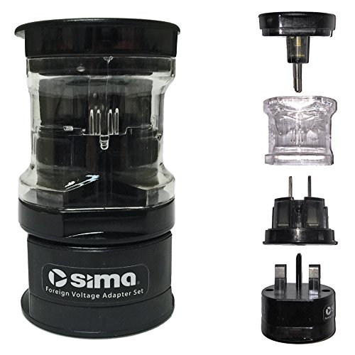 Sima International Plug - Sima SIP-3 Ultimate International Travel Adapter Plug Set