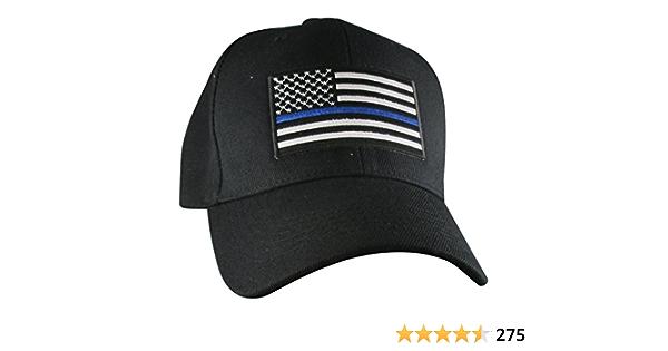 Kids Thin Blue Line US Flag Ballcap Baseball Cap Hat Police Rothco 7692