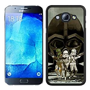 Fashionable A8 Case,Star Wars Black Phone Case For Samsung Galaxy A8 Case