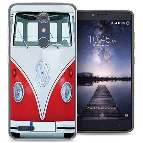 ZTE Blade X Max case - [VW Transporter] (Crystal Clear) PaletteShield Soft Flexible TPU gel skin phone cover (fit ZTE Blade X Max/ Max 3/ Max XL/ Zmax Pro) -  N9560-PaletteShield