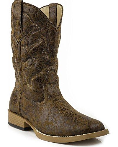 Vintage Square Toe Boots - 6