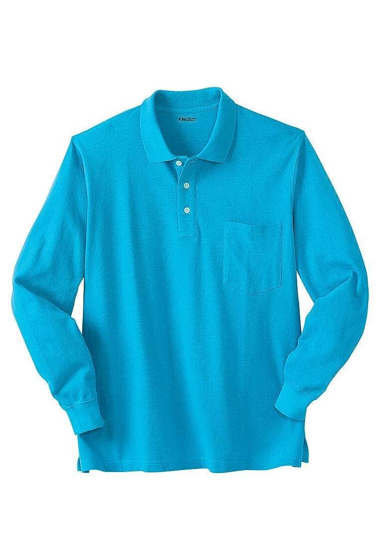 KingSize Men's Big & Tall Long-Sleeve Pique Polo Shirt
