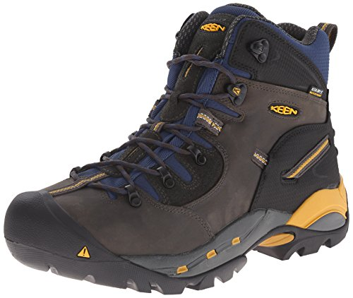 KEEN Utility Men's Pittsburgh Work Boot (Steel Toe),Raven/Yellow,10 D US by KEEN Utility