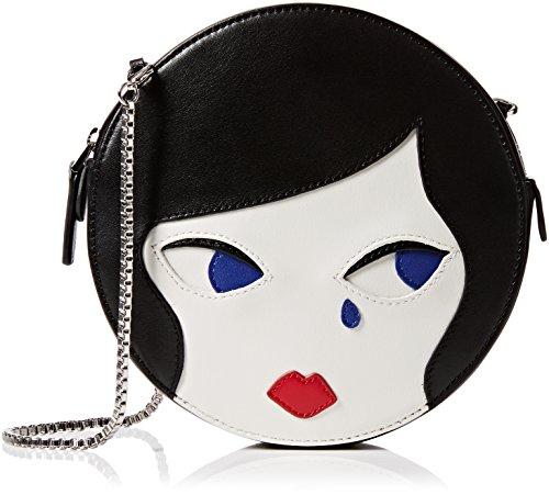 Face blk 4x166x17 Lulu Bandolera Doll Black Bolsos Guinness w Mujer L chalk H X Cm Ew010qx