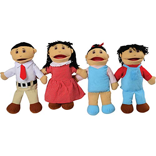 Constructive Playthings Asian Family Full Bodied Puppet Set of 15