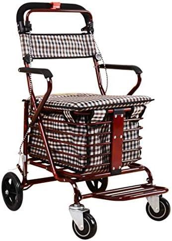 折りたたみ式ショッピングカート、軽量食料品ショッピング小型カート折りたたみ式携帯型トロリー家庭用荷物トレーラーは座ることができますG2 (サイズ さいず : B)