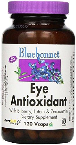 BlueBonnet oeil antioxydant avec formule de zéaxanthine Capsules végétariennes, comte 120