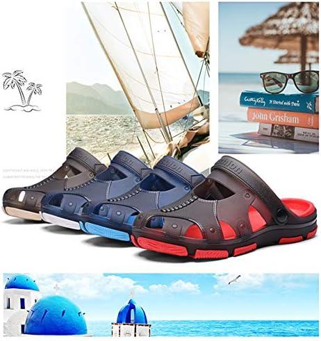 夏のサンダル、ユニセックススリッパ、夏のビーチプールスポーツハイキングサンダル,ブルー,46