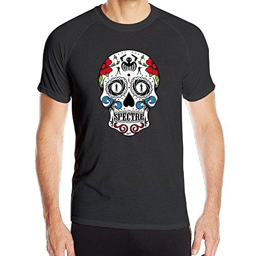 Men's James Bond 007 Movie Spectre Skull Head Quick Dry Athletic Tshirt -