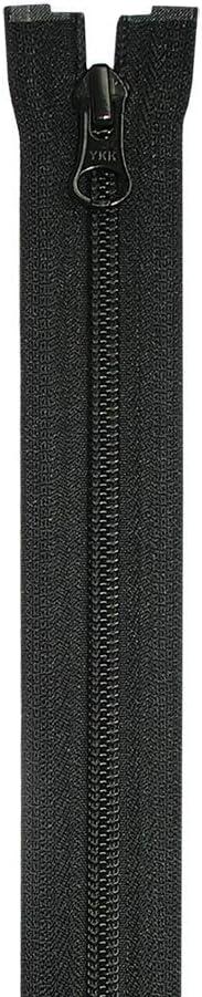 580 75 cm YKK 4452511 CIFMR-5 DALHD E//DAG E P16 HANGTAG MPM-DC N-ANTI P-TOP Fermeture /Éclair /à spirale 2 voies Noir