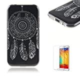 For Samsung Galaxy J1 (2017 Model) Case [with Free Screen] Protector.Funny Clear Flexible Perfect TPU Transparent Soft Shockproof Durable Fashionable Pattern Design Protective Cover Case for Samsung Galaxy J1 (2017 Model)-Feather dream catcher