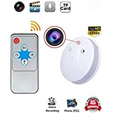 HD Smoke Detector Camera Wifi Indoor Hidden Camera Motion Detection Mini Video Recorder Security Cameras for iPhone,Android and PC