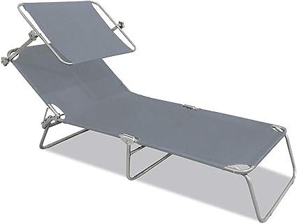 Sonnenliege mit Sonnendach Gartenliege klappbar Strandliege Relaxliege Möbel