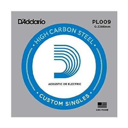 Amazon.com: CUERDAS GUITARRA ELECTRICA - D´addario /PL009/Plana (5 Unidades): Musical Instruments