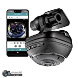 d'Action 360 Dash Cam by Razo | 4K / Full HD Video Recorder Dashboard Camera | Sony Video Sensor, Built-in WiFi, GPS, WDR, 3-Axis G-Sensor, Stereo Microphone | Innovative Product Award Winner