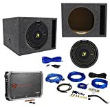 KICKER 44CWCS124 CompC 12'' 600w Car Subwoofer+Vented Sub Box+Amplifier+Amp Kit